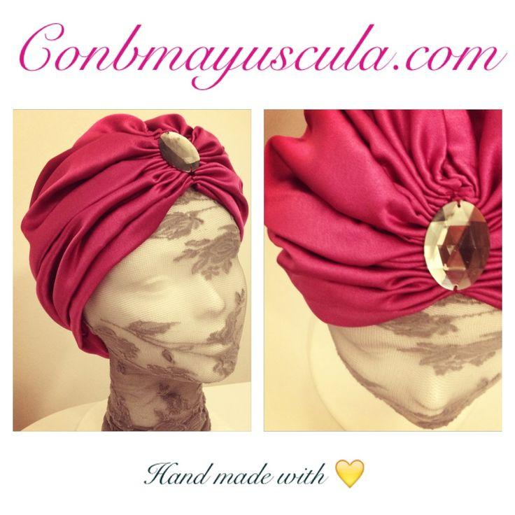 Turbante seda fresa #turbante #conbmayuscula #wedding #boda
