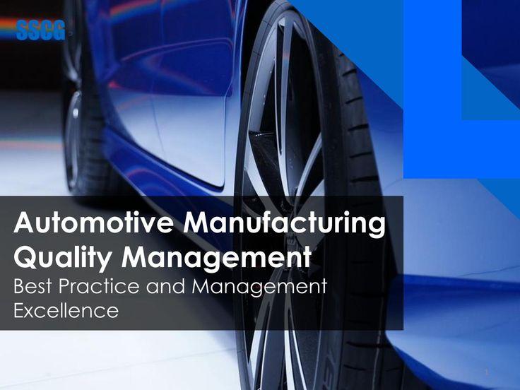 Automotive Manufacturing Quality Management