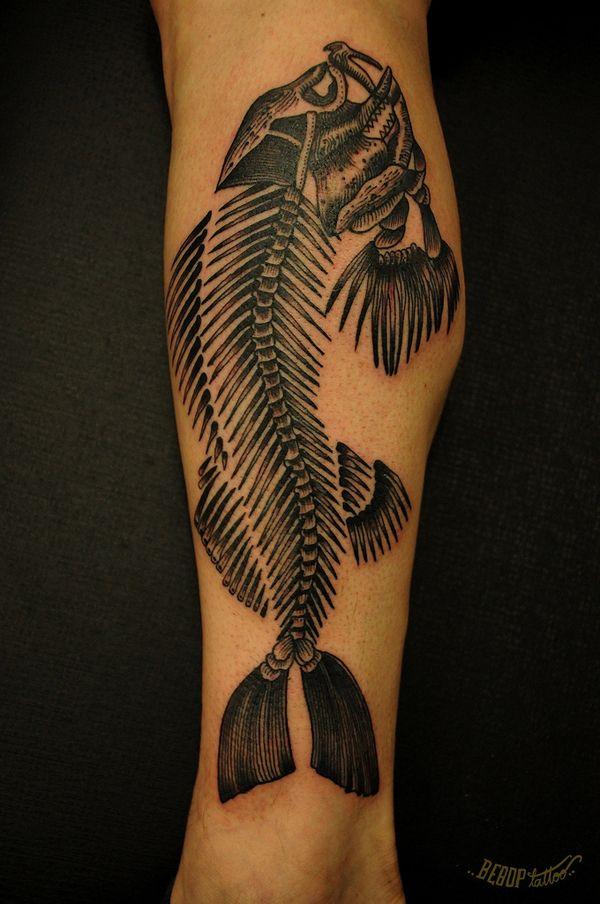 Fish scale tattoo | BEBOP tattoo
