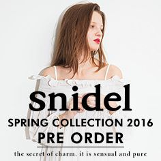 snidel SPRING COLLECTION 2016