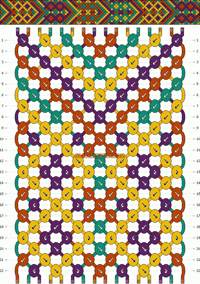 Pattern #3904 - BraceletBook.com (For Greg with the dark purple changed out with Navy)