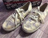 Vans shoes - Unworn, in original packaging - Tie dye pattern, splotchy pattern - size 6 - tumblr, cute - clearance