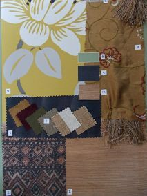 Interior Design Basics Sample Board 2