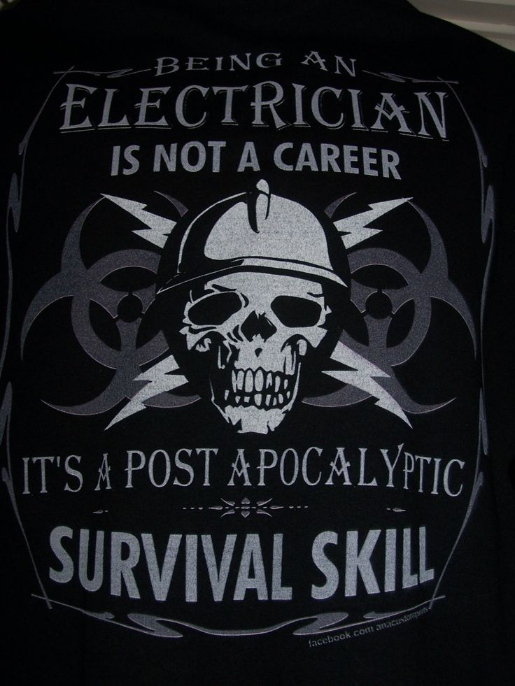 Electrician Survival Skill T-Shirt Item#1035 - pinned by pin4etsy.com