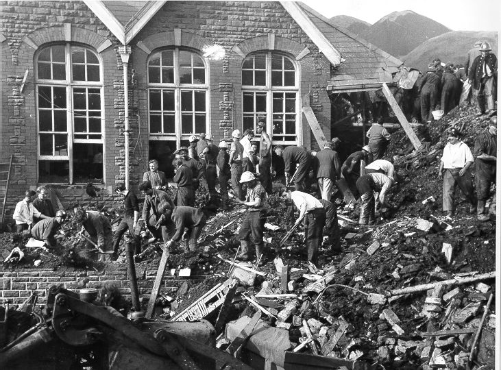 Aberfan Disaster - never forget it as long as I live. We were all called into assembly in school and told to pray real hard for the children in the school, Praying did no good though, they were all killed.....suffocated