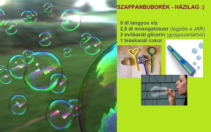 szappanbuborék - házilag