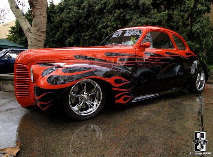 Best Hot Rod Flames Images On Pinterest Custom Cars Street