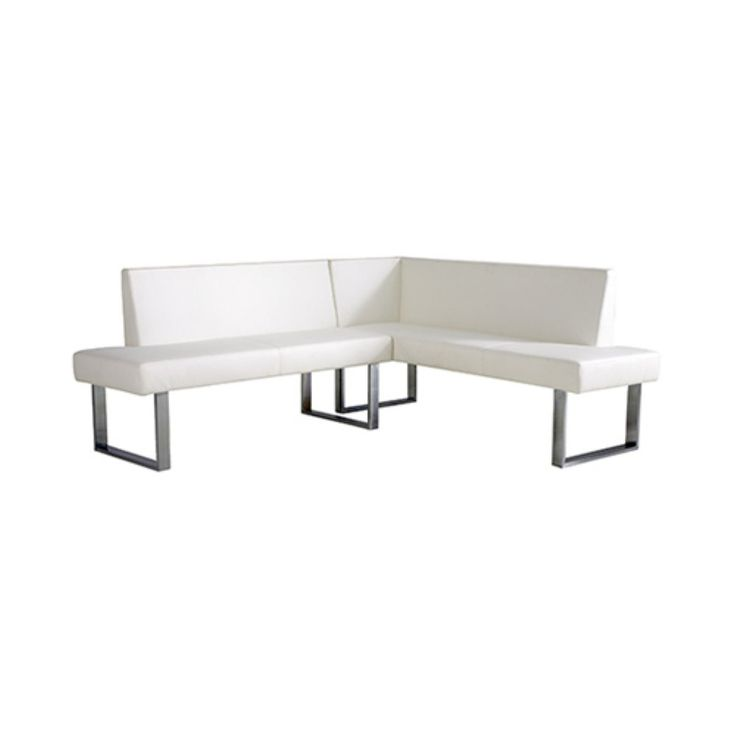 Armen Living Amanda Corner Seating - Add an unexpected touch of modern beauty to your well-appointed dining room with the Armen Living Amanda Corner Seating . The sleek metal base elegantly...