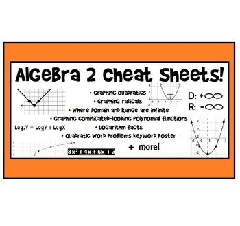 best algebra trig calculus images learning  algebra 2 cheat sheets