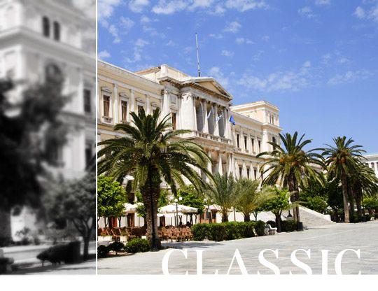 Ermoupoli's Town Hall, #Syros #island, #Cyclades #Greece