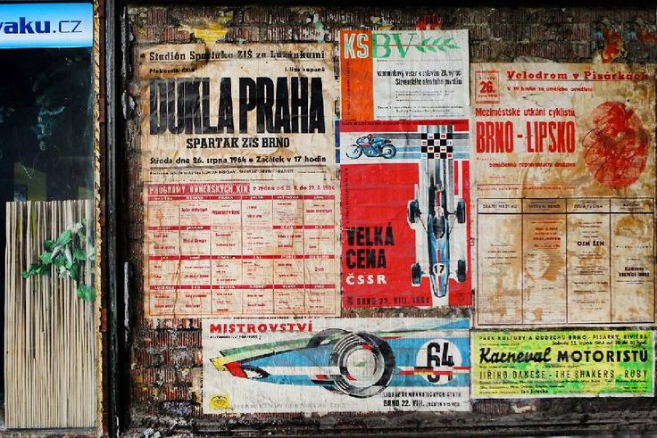 Brno. Old posters.