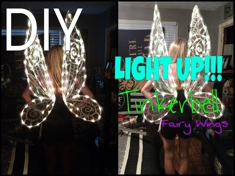 DIY LIGHT UP! Tinkerbell Wings! Tinkerbell Costume Part1 - YouTube