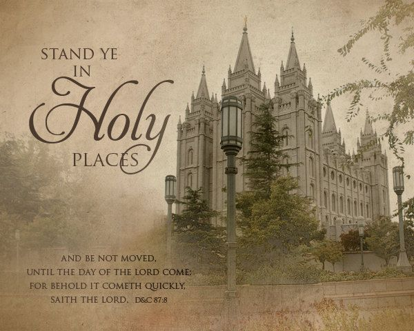 Stand Ye in Holy Places - 16x20 Print w/ Your Choice of Temple Image. $24.95, via Etsy.