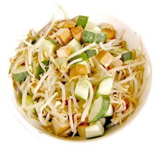 Receta de nutritiva y proteica ensalada de brotes y porotos de Soya