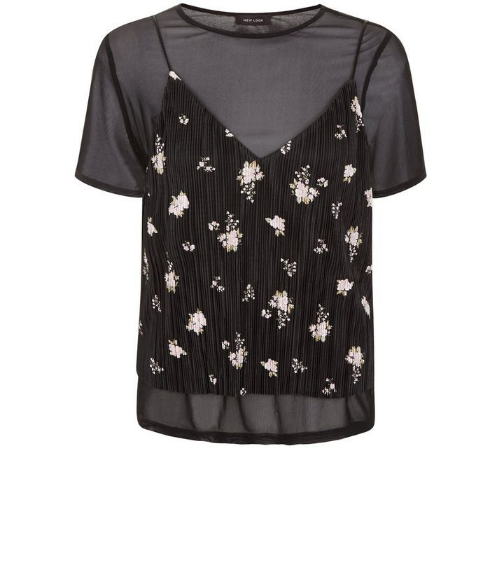 http://www.newlook.com/row/womens/clothing/tops-tees/t-shirts/black-mesh-pleated-floral-print-2-in-1-top-/p/516296309?comp=Browse