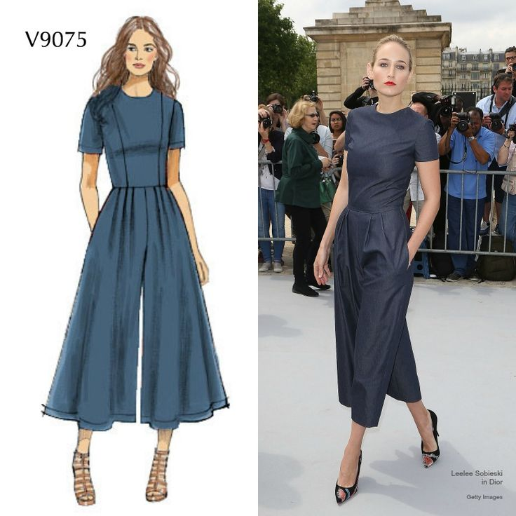 Make this jumpsuit out of a stretch denim and you'll wear it all season. Sew with look with Vogue Patterns V9075.