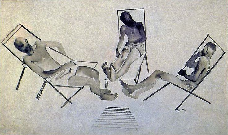 Alexander Deineka. Painting. Relaxed. 1928