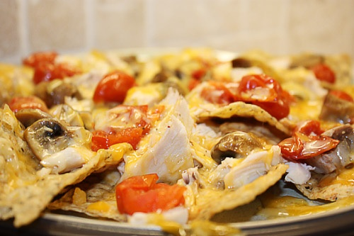 cheesy chicken the chicken chicken nachos 30 seconds tortilla chips ...