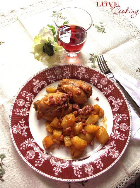 love cooking: Pollo e patate allo speck e paprika (in pentola a pressione)