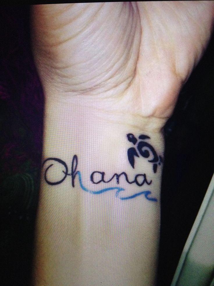 The absolute perfect Ohana tattoo #hawaiiantattoosturtle