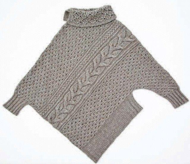 ассиметричный пуловер