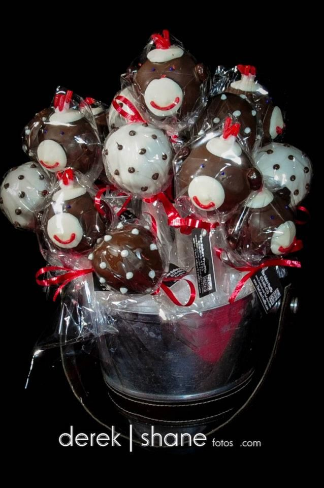 Sock Monkey Cake pop - The Cake's Truffle