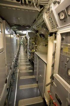 Inside the nuclear submarine Nuclear submarine