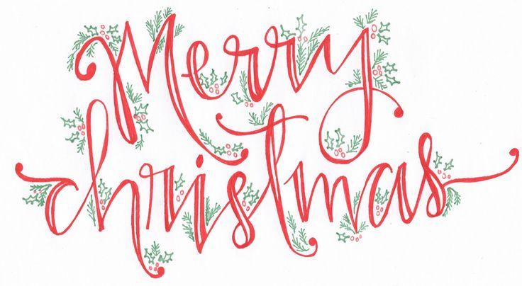 Beautiful Christmas themed calligraphy card