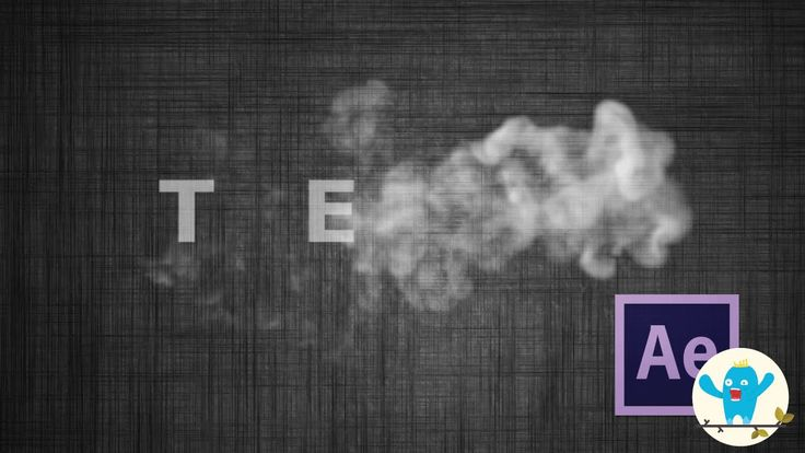 After Effect Tutorials - Smoke Text Effects