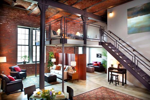 awesome brewery loft    http://edificecomplex.tumblr.com/post/17285036452/exposed-brick-brewery-loft