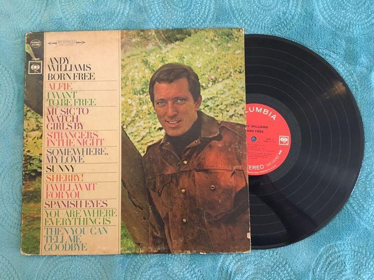 "ANDY WILLIAMS ""BORN FREE"" Vinyl LP RECORD (1967) COLUMBIA NEW Sealed $19.99    eBay"