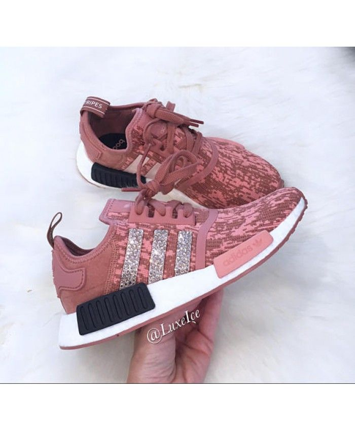 0d475e68d0259 Cheap Adidas NMD Runner Raw Pink Trainers With Swarovski Crystals ...