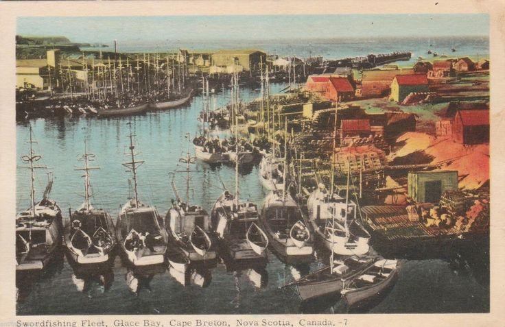Swordfishing Fleet, Glace Bay, Nova Scotia 1954