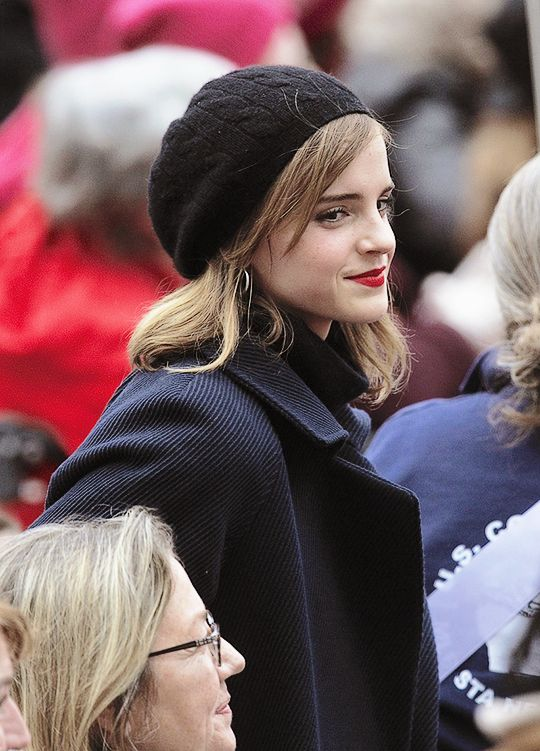 Emma Watson at the Women's March in Washinton DC on January 21st