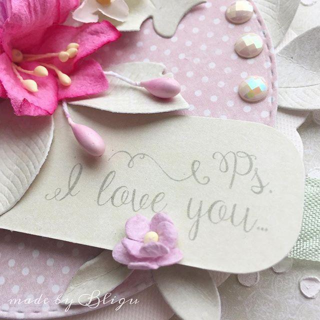 """.:Ps. I love You ;) #Bligu #cardmaking #piątek13 #piątektrzynastego #wildorchidcrafts #pastel #dpcraft"" Photo taken by @agataaraszkiewiczbligu on Instagram, pinned via the InstaPin iOS App! http://www.instapinapp.com (01/28/2016)"