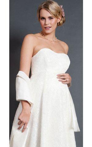 ärmellos Mitte Rücken schlichtes stilvolles sexy informelles Brautkleid