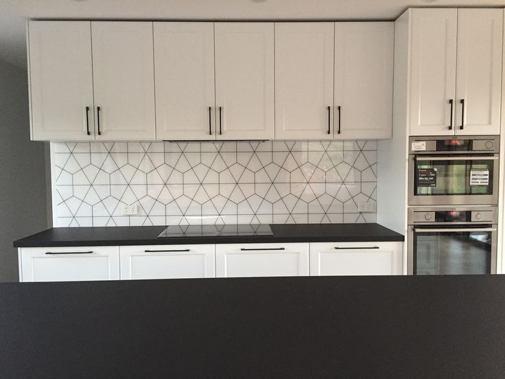 If you think this is a #tile #splashback think again! Our #luxury #acrylic #splashbacks - in a #custom #geometric #design - eliminates the fun of cleaning #tiles & #grout forever!   PS We know it ain't no fun & so do our clients!!