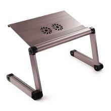 Suporte de Cama Desk Slim com cooler para Notebook - Chumbo