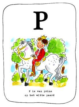 Alfabetkaart, P is van prins- Greetz