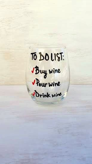 To Do List funny wine glass                                                                                                                                                                                 More
