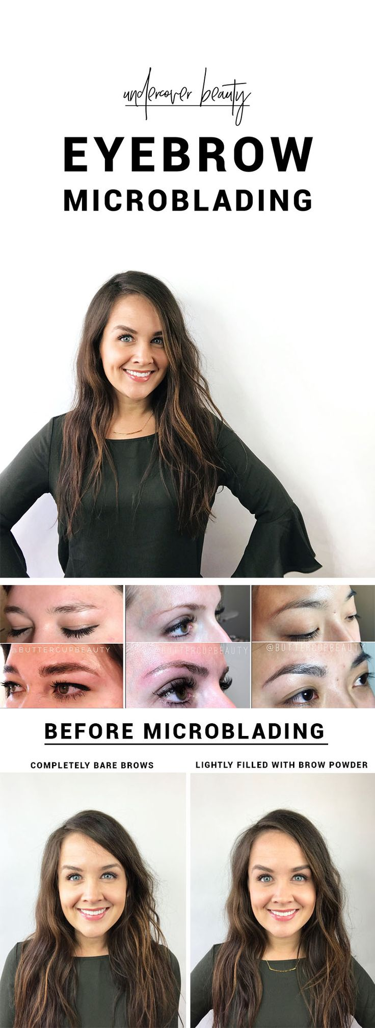 Have you heard of eyebrow microblading? It creates tiny, hair-like, 3D strokes onto your skin to help brows appear thicker and give them shape.