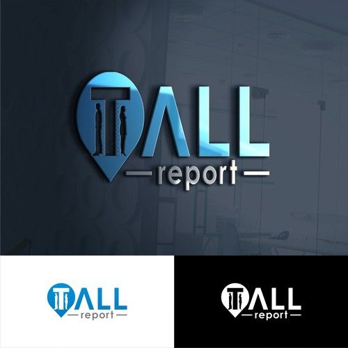 Tall Report 鈥?20a clean logo that also interprets human height into it for tallreport.com
