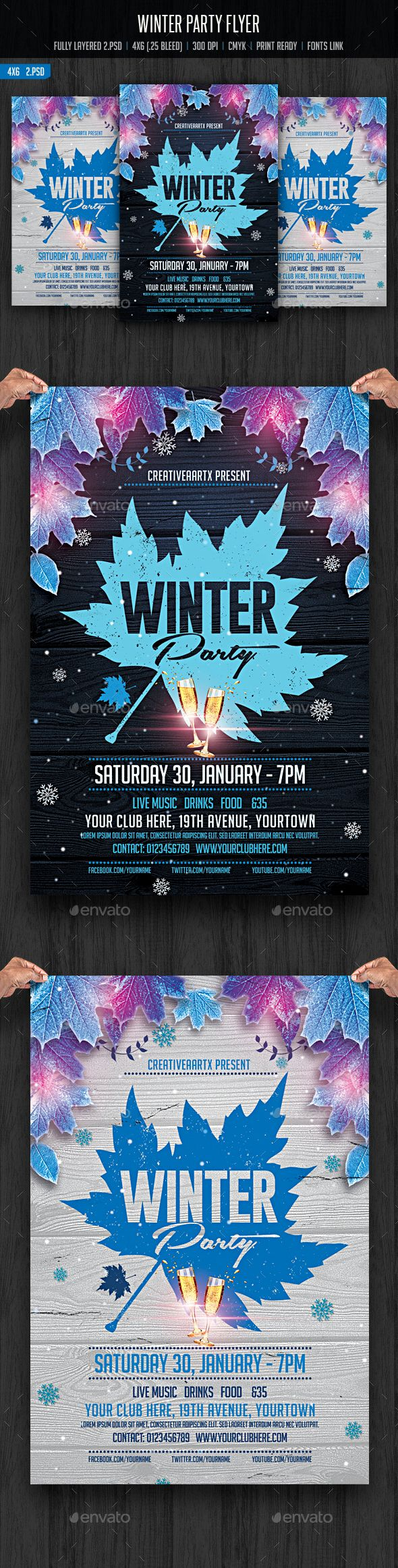 17 best images about party design flyers dj party winter party flyer