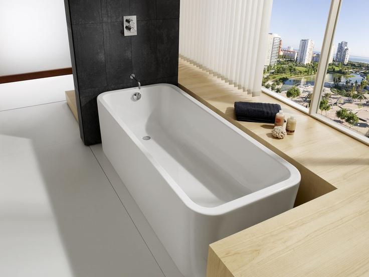 acrylic rectangular bath-tub ELEMENT by David Chipperfield ROCA