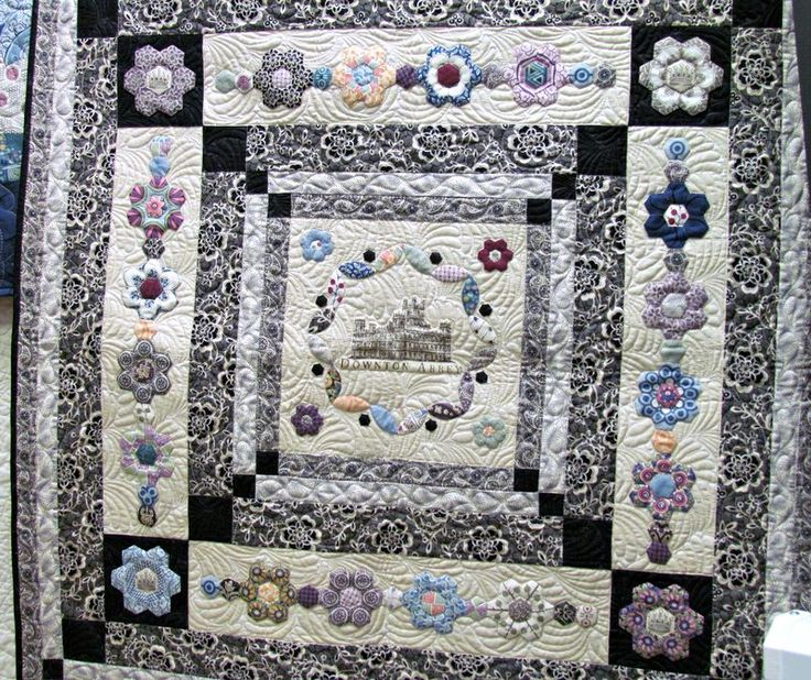 36 best Downton Abbey Quilt projects images on Pinterest | Flower ... : downton abbey quilt kits - Adamdwight.com