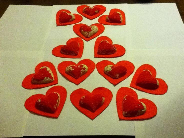 Cuori gessa san valentino