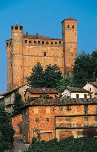 Serralunga d'Alba castle, 14th century, Langhe, Piedmont, Italy