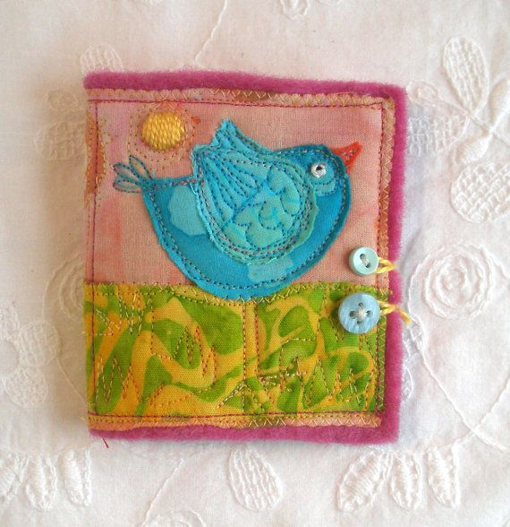 Sweet Birdy Needle Book with Glass Beaded Pins by fiberluscious, $15.00