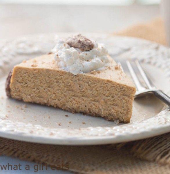 Gluten free Pumpkin Spice Cheesecake with Sugar Pecans and Bourbon ...