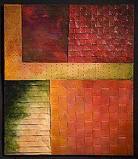 "Autumn Walk by David Paul Bacharach (Metal Wall Sculpture) (28"" x 24"")"